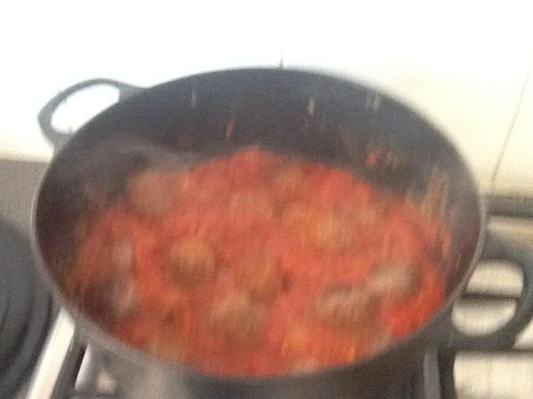 Meatballs with multi veg tomato sauce