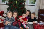 Christmas Day - Conor, Evie, cousin Tilly, Beth and cousin Toby